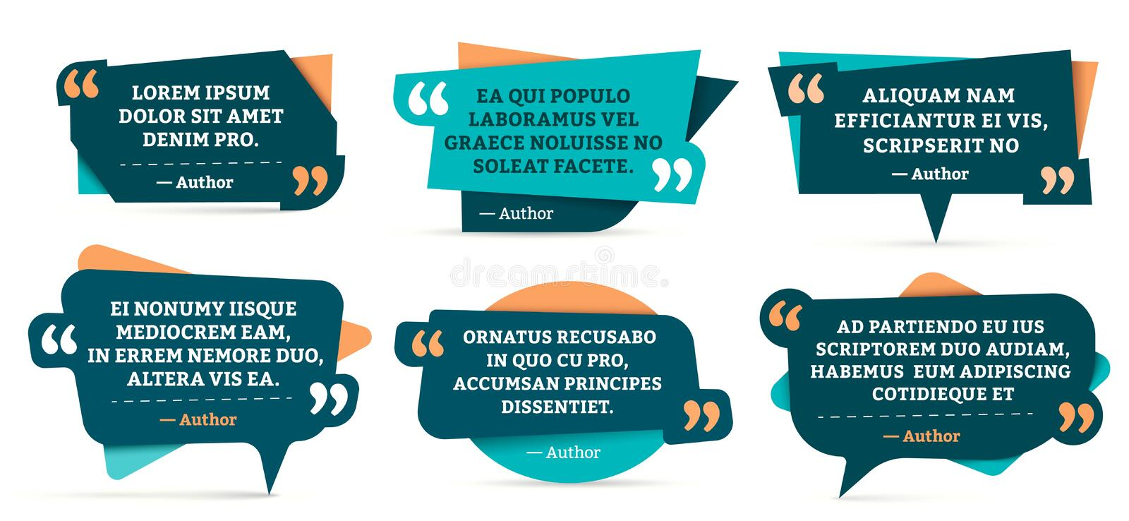 Quote remark frames. Quotation frame, quotes and mention quotations remarks templates vector set stock illustration