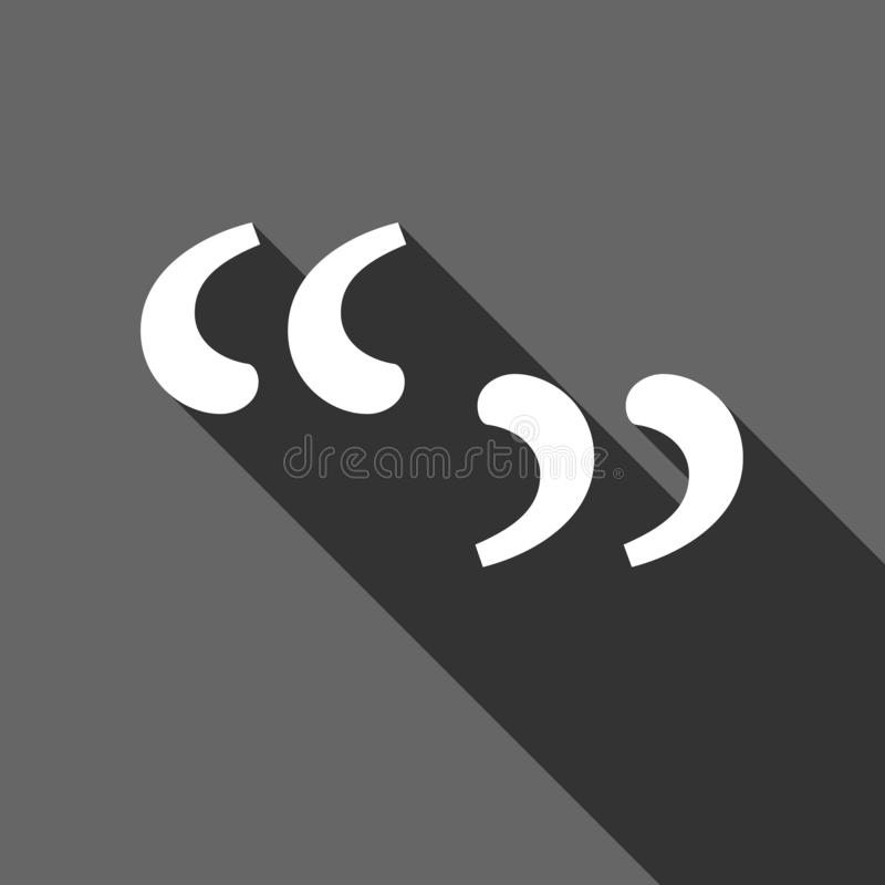 Quote sign icon. Quotation mark symbol. Double quotes at the beginning of words. Vector illustration. Eps 10 vector illustration