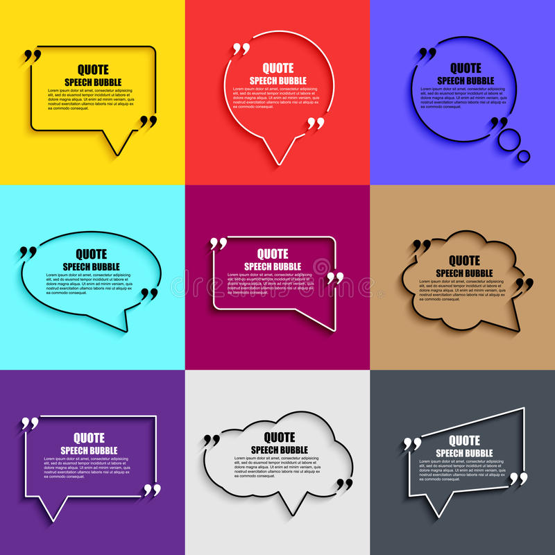 Free Quote Speech Bubble Vector Design Template Royalty Free Stock Images - 65509189