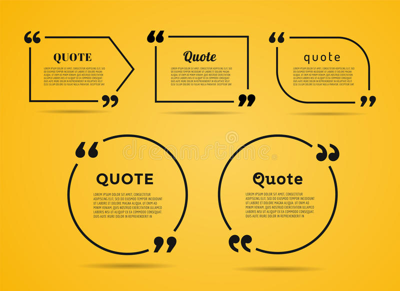 Quote text bubble. Commas, note, message and stock illustration