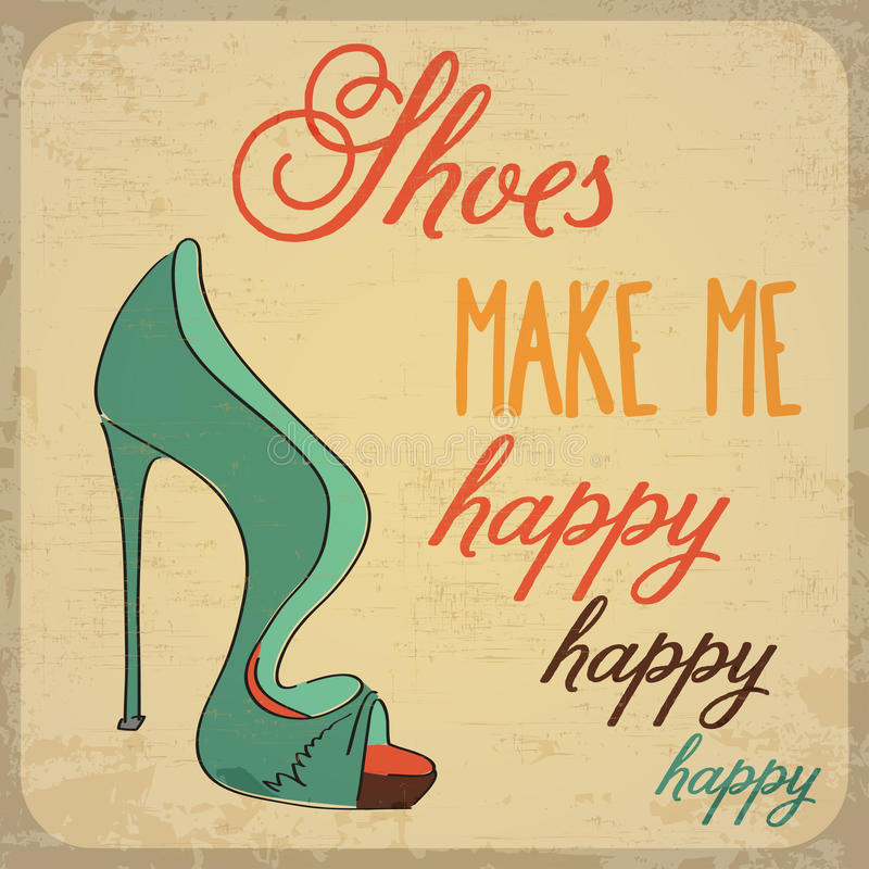 Quote Typographic Background about shoes. Quote Typographic Background, vector format vector illustration