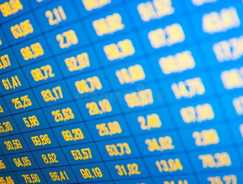 Quotes штока на реальном времени на фондовой бирже стоковое изображение rf