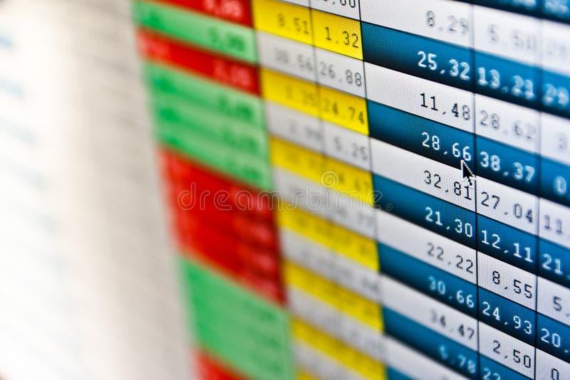 Quotes штока на реальном времени на фондовой бирже стоковое фото rf