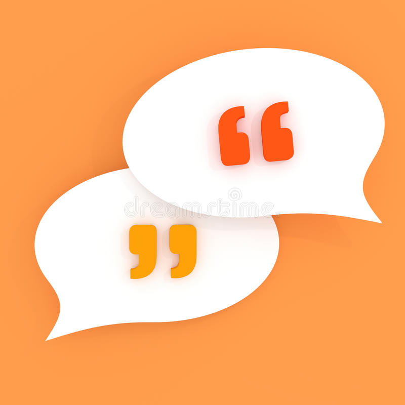 Quotes in speech bubbles royalty free illustration