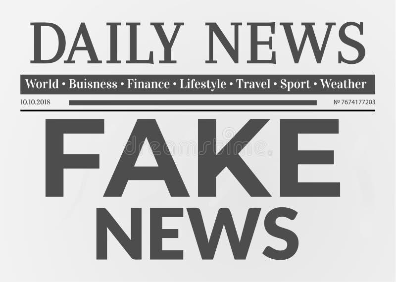 Quotidien avec le faux titre d'actualités illustration de vecteur