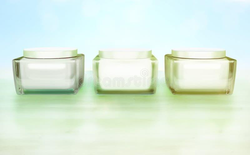 Quotidien, cosmétique de soin de beauté Le visage écrème Soin de peau photo stock