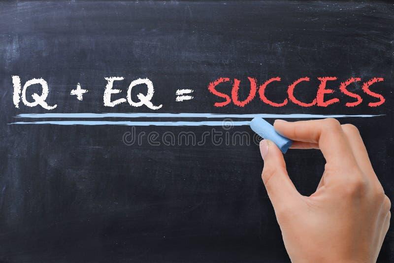 Quotient émotif EQ plus le QI de quotien intellectuel - formule de succès image stock