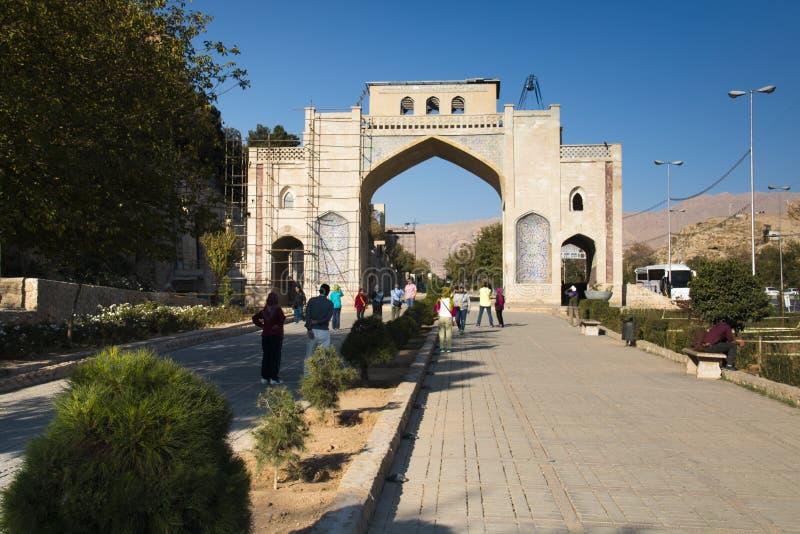 Qur'an port i Shiraz, Iran arkivfoto