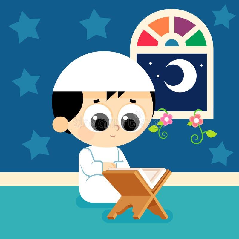 Quran de la lectura del niño libre illustration