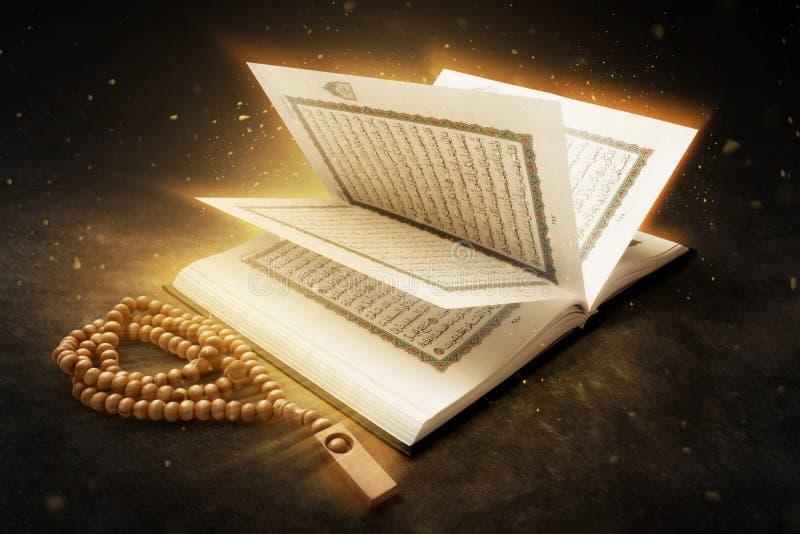 Quran holy book and beads. Quran holy book and bead stock image