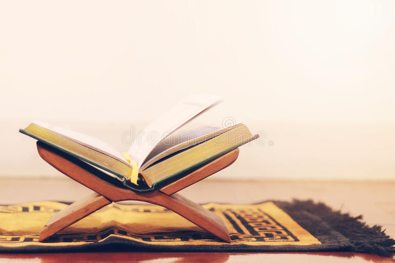 Quran the holy book of islam stock photo