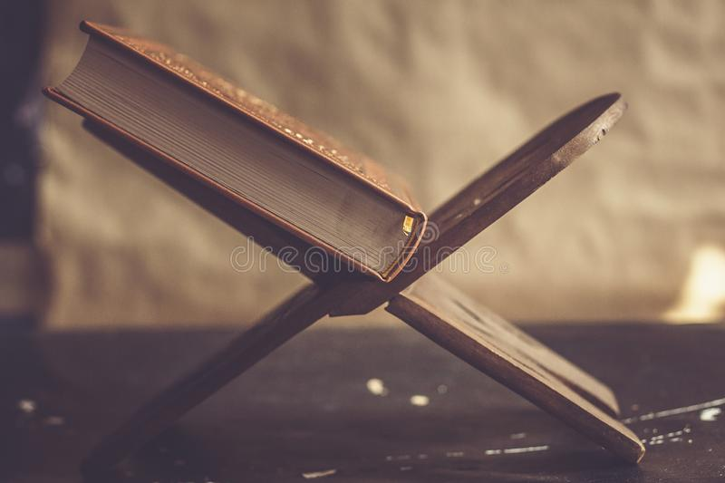 Quran - holy book. Open for prayers royalty free stock images