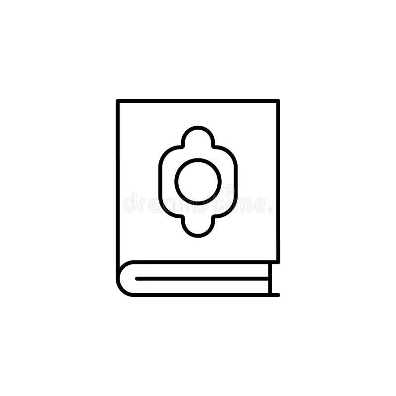 quran, icono del esquema de la muerte sistema detallado de iconos de los ejemplos de la muerte Puede ser utilizado para la web, l ilustración del vector