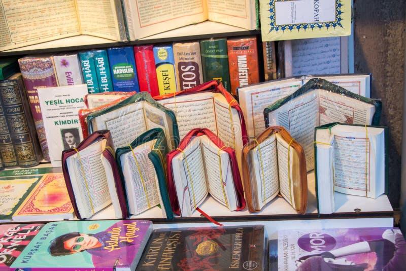 Quran islámico del libro sagrado imagenes de archivo