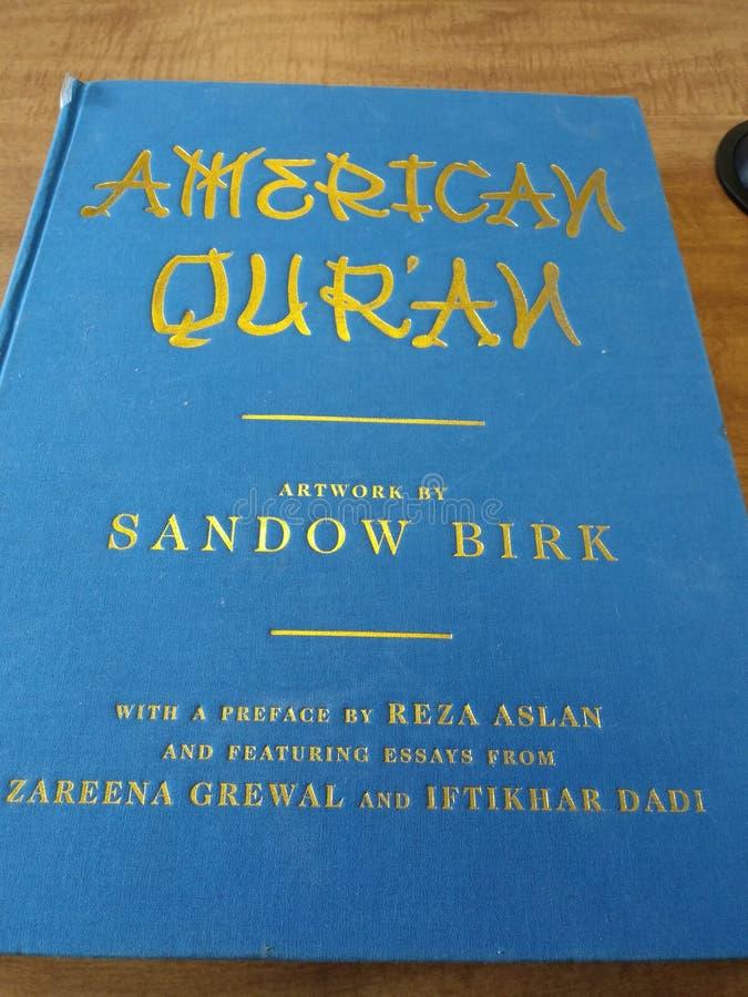Quran noble del americano de la biblia del Quran del Quran foto de archivo