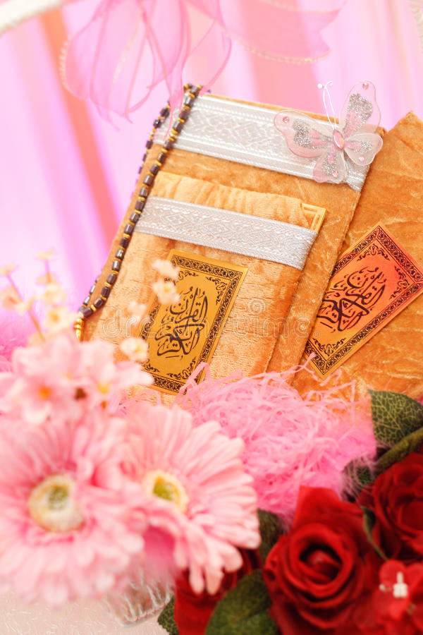 Quran present for bride stock images