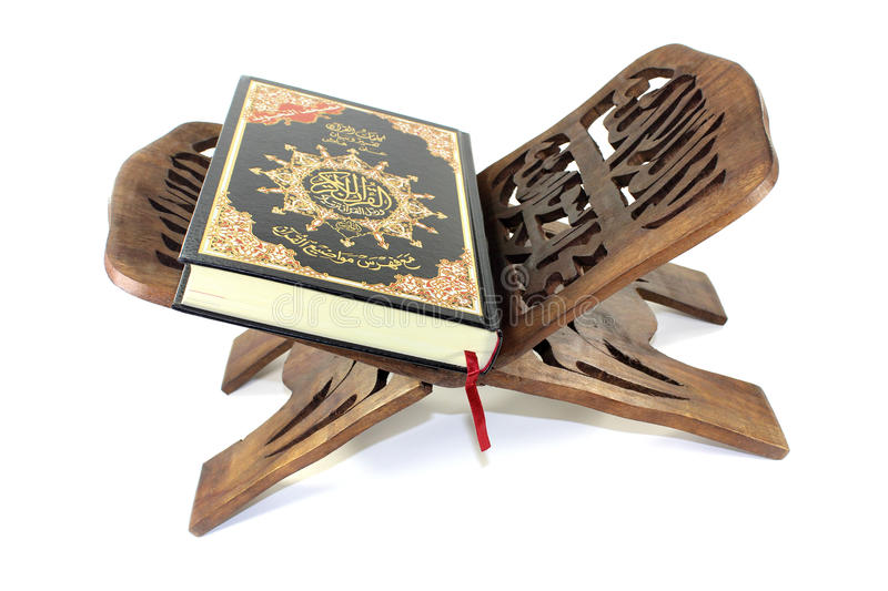 Quran on a stand royalty free stock image