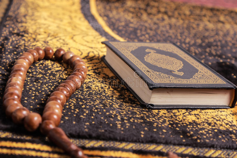 Quran and tasbih royalty free stock images