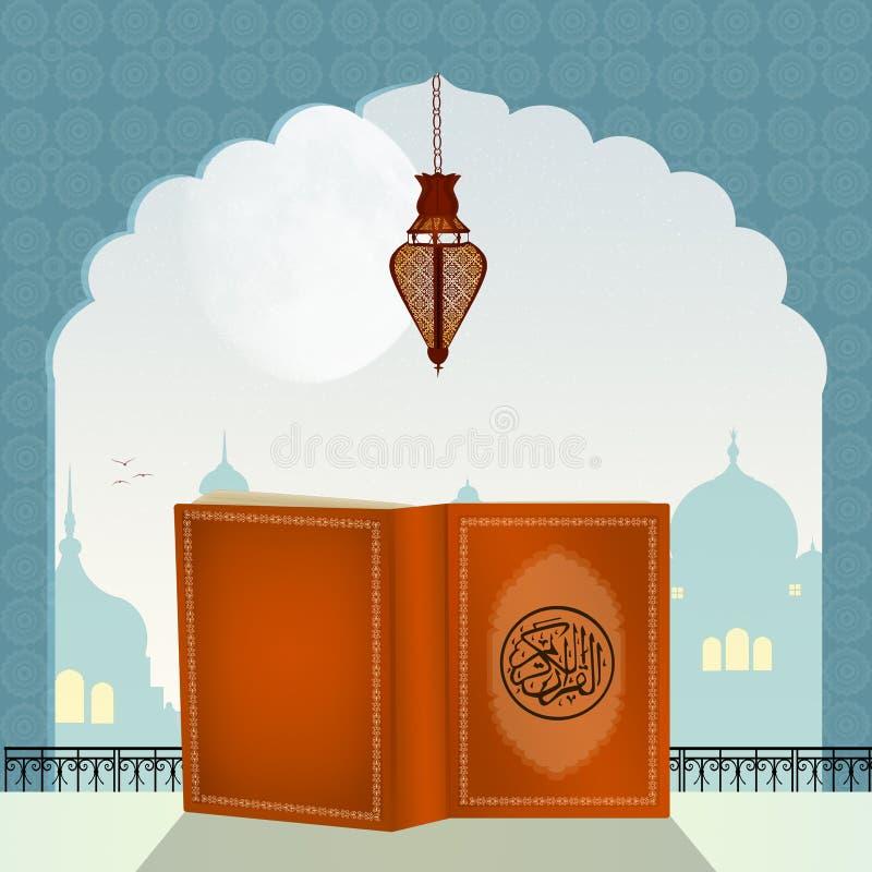 Quranboek in de Moskee royalty-vrije illustratie
