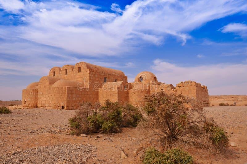 qusayr пустыни замока amra стоковые изображения rf