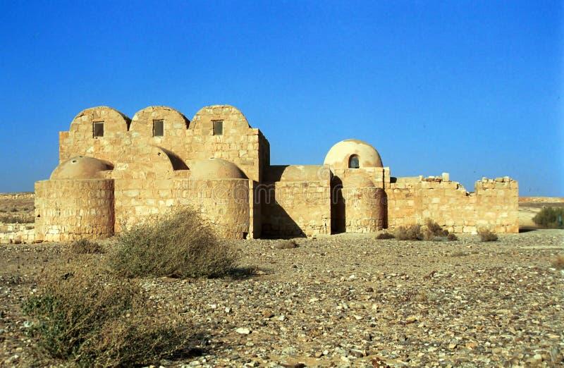 Qusayr Amra, средневековое caravanseray, Джордан стоковое фото rf