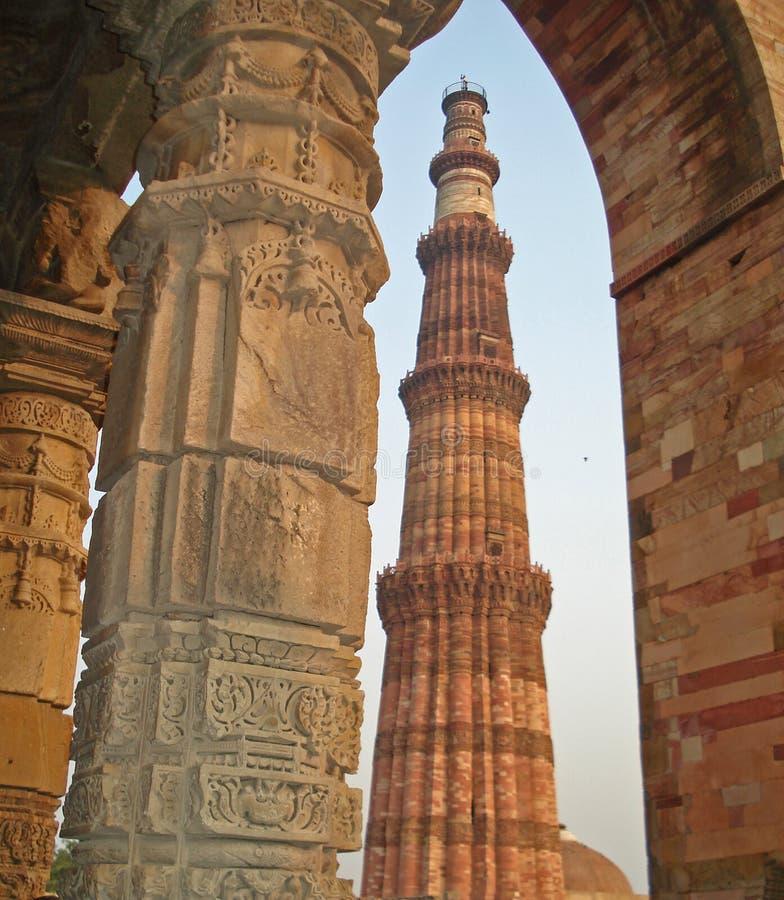 qutab delhi minar стоковое изображение