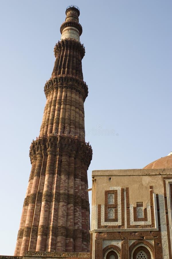 Qutab minar, Delhi, Inde images stock