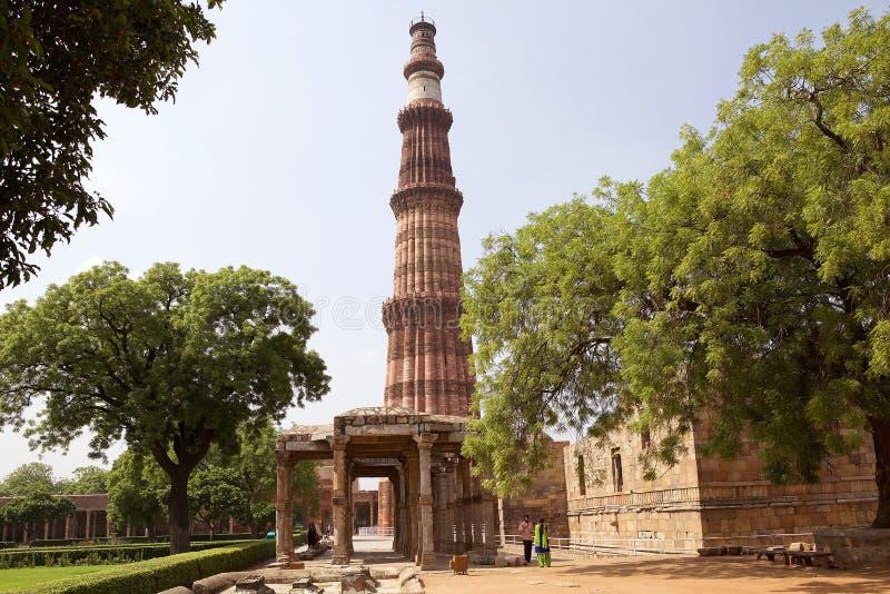 Qutab Minar, Delhi, Inde photo stock
