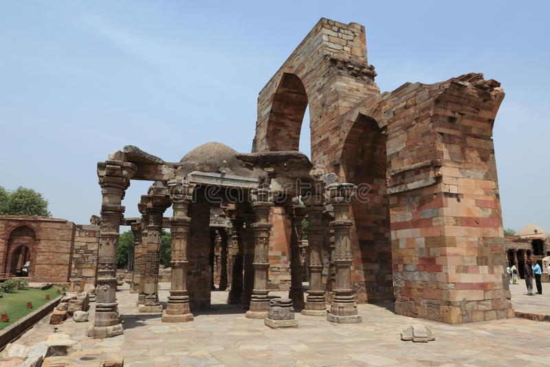 Qutab Minar w New Dehli India obrazy royalty free