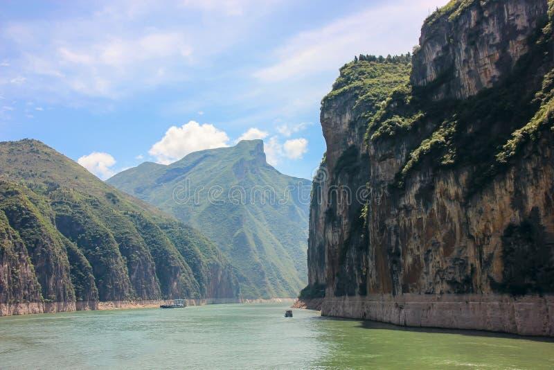 Qutangkloof op Yangtze-Rivier - Baidicheng, Chongqing, China stock fotografie