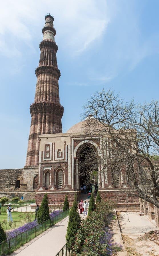 qutb delhi minar стоковое изображение