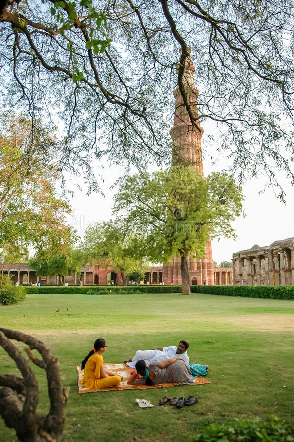 Qutb Minar στο Νέο Δελχί, Ινδία στοκ φωτογραφία με δικαίωμα ελεύθερης χρήσης