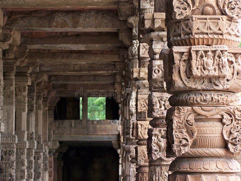 Qutb Minar. The medieval Qutb Minar, New Delhi stock images
