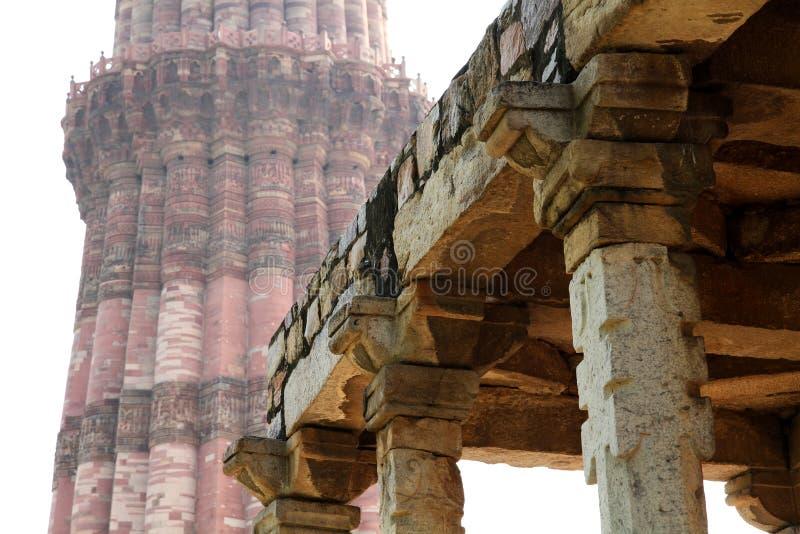 Qutb Minar, Delhi stock afbeelding