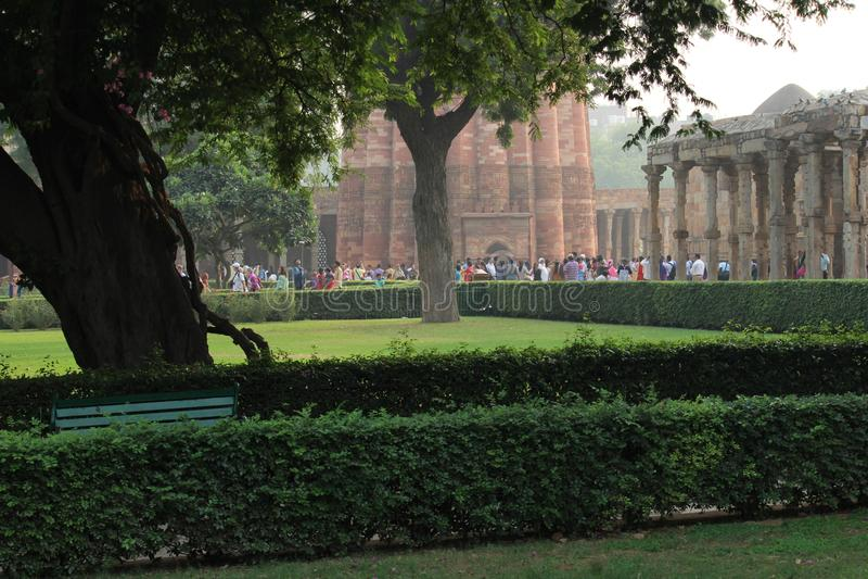 Qutb Minar kompleks w Mehrauli, New Delhi, India fotografia royalty free