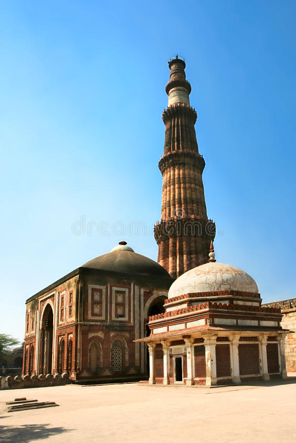 Qutb Minar, nowy Delhi, India. obraz royalty free