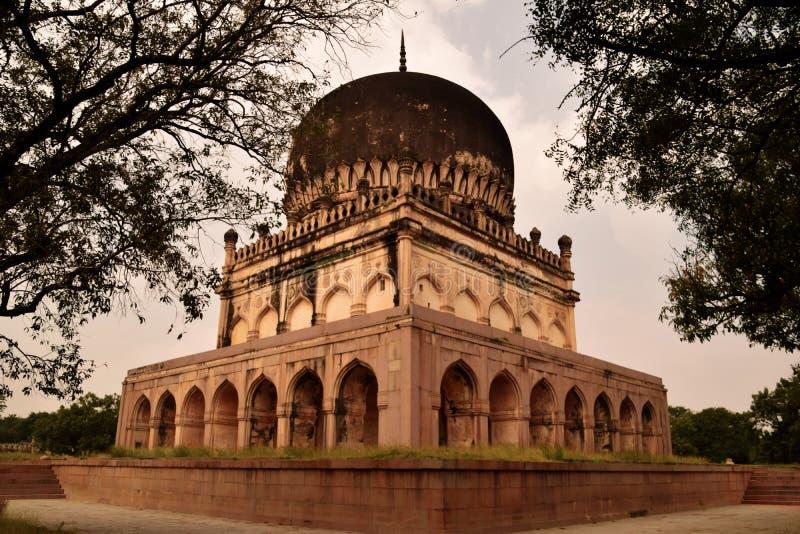 The Qutb Shahi Tombs in Hyderabad royalty free stock photos