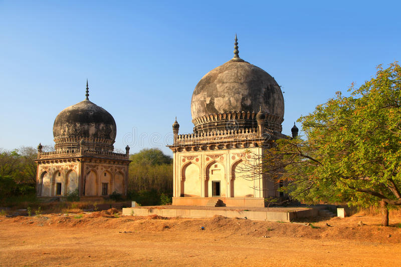 Qutbshahi tombs stock images