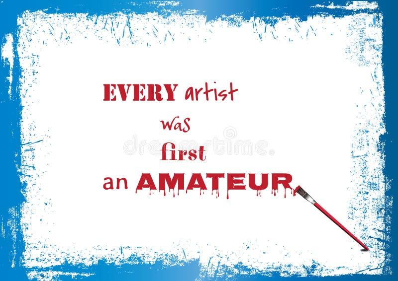 Qute über Künstler vektor abbildung