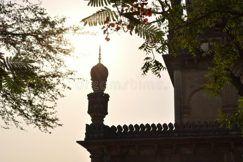Qutub沙赫坟茔在海得拉巴 库存照片