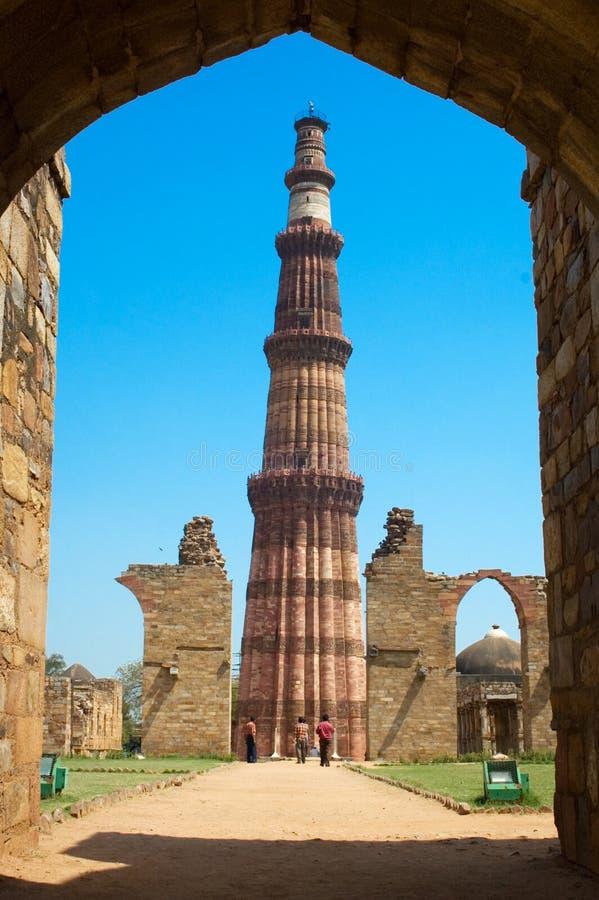 Qutub Delhi minar fotografia stock