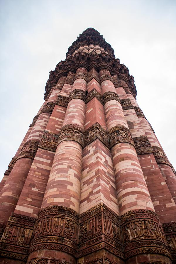 Qutub Minar,德里,印度 免版税库存图片