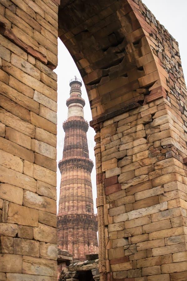 Qutub Minar, Δελχί, Ινδία στοκ εικόνα