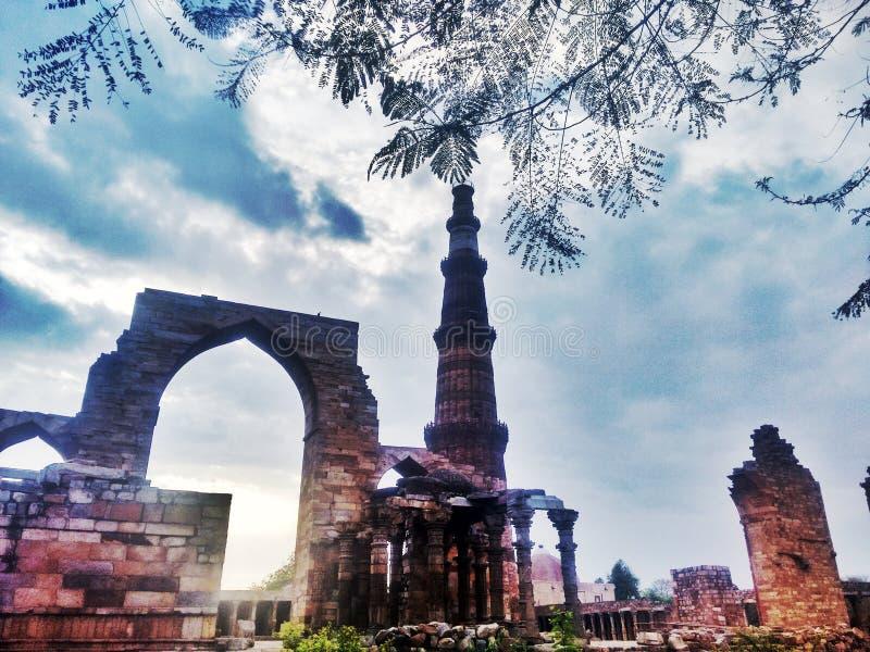 Qutub Minar Νέο Δελχί στοκ φωτογραφίες