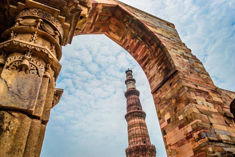 Qutub Minar Нью-Дели стоковая фотография rf