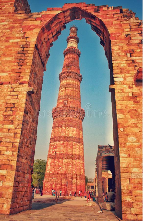 qutub minar zdjęcia royalty free