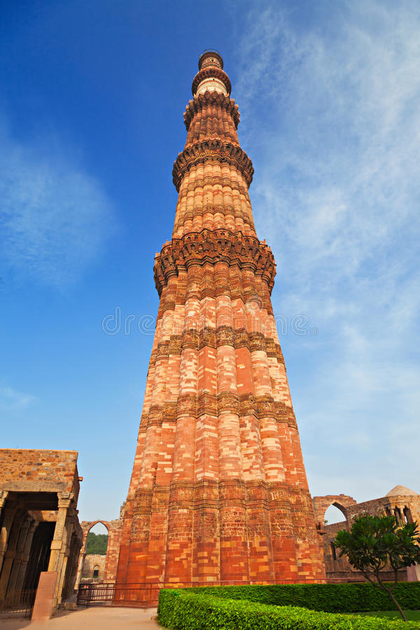 Qutub Minar. New Delhi, India royalty free stock photography