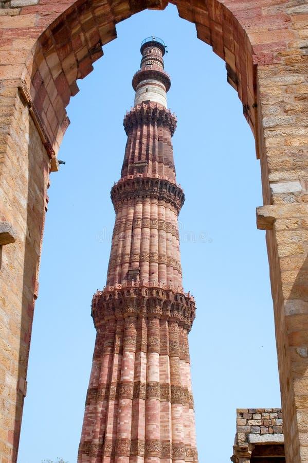 Download Qutub minar fotografia stock. Immagine di costruzione - 3876840
