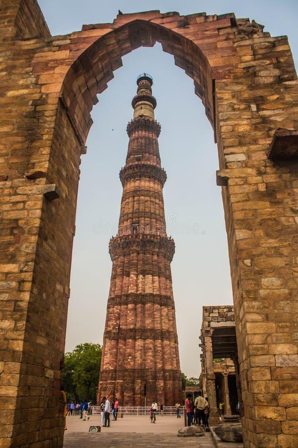 Qutub Minar foto de archivo