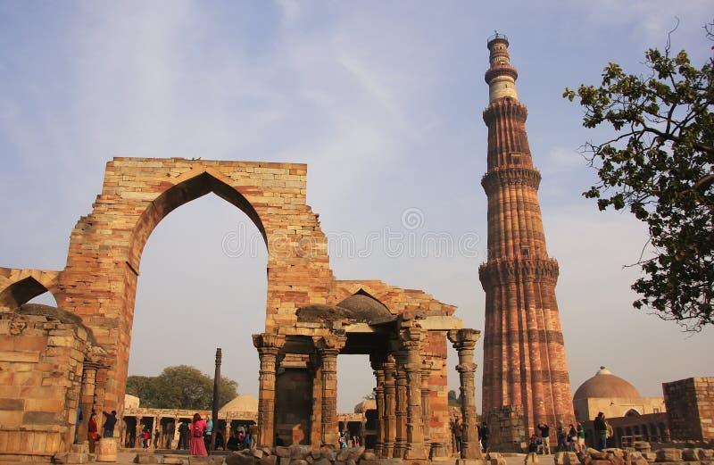 Qutub Minar complex, Delhi. India stock image
